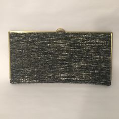 Deena & Ozzy Tweed Clutch Wallet Black and White Hard Shell Tweed Wallet. Never used. Brand new. Urban Outfitters Bags Wallets