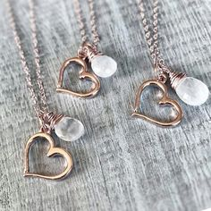 #Repost @fablebay  Moonstone Baby!  These little bits of Moonstone and Rose Gold hearts are perfect for everyday!  Starting at $45 I have just a few available so head over to the shop and snag one of your own!  http://ift.tt/2gnmSay.  #onlineshopping #handmadejewelry #gemstonejewelry #gemstones #fashiongram #happythoughts #livelaughlove #livecolorfully #jewelrygram #lovejewelry #fashionjewelry #psimadethis #flashesofdelight #fablebay #prettylittlething #handcraft #shophandmade #wildandfree…