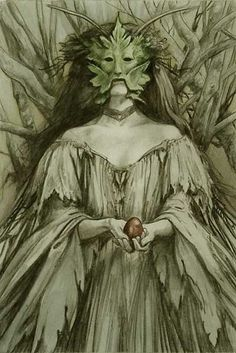 Art by Brian Froud. The green man Alan Lee, Brian Froud, Fantasy Kunst, Fantasy Art, Dark Fantasy, Celtic, The Dark Crystal, Mystique, Animation