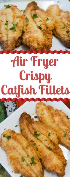 Fried Catfish Fillets with less oil? Frying Catfish Fillets in an Air Fryer is much easier than you'd expect. They fry up crispy on the outside and flaky and flavorful on the inside. Air Fryer Fish Recipes, Air Frier Recipes, Air Fryer Dinner Recipes, Fish In Air Fryer, Fried Catfish Recipes, Air Fried Fish, Air Fryer Pork Chops, Cooking Recipes, Healthy Recipes