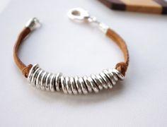 Unisexe Bracelet Bracelet manchette Suede liens par SarahOfSweden