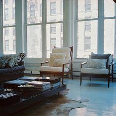 Beautiful loft windows