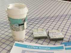 Coffee Koozie.  Easy gift to make---The Lost Apron