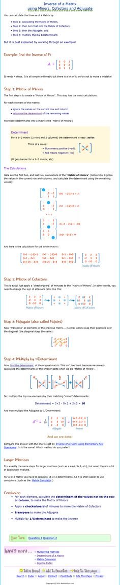 Inverses of Matrices