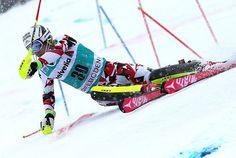 Skiing slalom gates