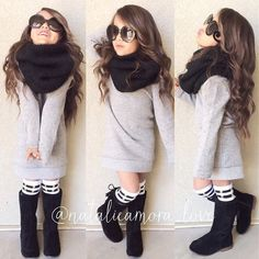 Hair , glasses, scarf, boots, with longer dress                                                                                                                                                                                 More