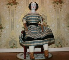 Antique China Head Doll So Called Jenny Lind