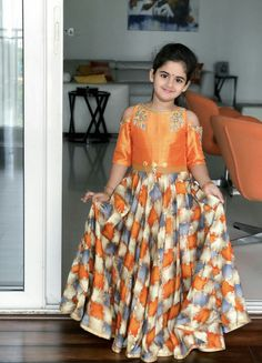Kids Lehenga Choli Designs For Weddings In 2019 – FashionEven Kids Party Wear Dresses, Kids Dress Wear, Kids Gown, Little Girl Dresses, Girls Dresses, Baby Dresses, Kids Wear, Kids Blouse Designs, Choli Designs