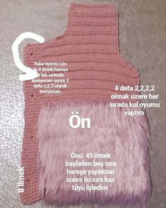 Image may contain: text Knitting For Kids, Baby Knitting, Vestidos Chiffon, Knitting Patterns, Crochet Patterns, Knitted Baby Cardigan, Makeup Wipes, Yarn Thread, Baby Sweaters