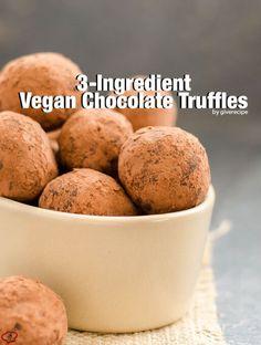 3 Ingredient Vegan Chocolate Truffles