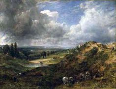 one of  Constable's cloud paintings from Hampstead-. John Constable (1776-1837) 'Hampstead Heath; Branch Hill Pond' 1828 (560×431)
