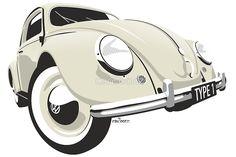 VW Beetle type 1 cream