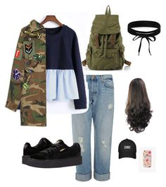 """""""Awww..."""" by song-v on Polyvore featuring J Brand, WithChic, Marc Jacobs, Puma, The Casery and Boohoo"""