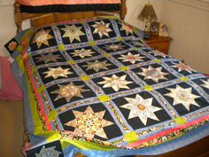 Stack-n-Whack quilt made with gorgeous Florentine fabric.