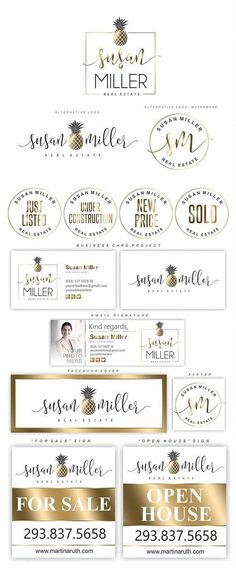 Pineapple logo, Real Estate Logo Design, Realty Branding set, Realtor logo, B. Real Estate Logo Design, Real Estate Branding, Business Names, Business Logo, Business Ideas, Logo Real, Realtor Logo, Susa, Sell Your House Fast