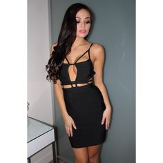 NWT Black Caged Bondage Bodycon Mini Dress Ring in the new year with this perfect fitting LBD  thick bondage for that body hugging fit  listed under misguided for exposure Missguided Dresses Mini