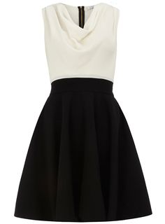 Black and white contrast dress - Fit & Flare Dresses - Dresses - Dorothy Perkins United States