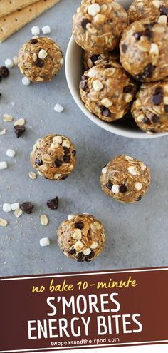 The perfect high protein energy balls for kids and adults! S'mores Energy Bites are quick and easy snacks that only takes 10 minutes to make. They are a healthy-ish way for the kids to enjoy s' mores! Save this no-bake one-bowl recipe made with just a few pantry ingredients! Protein Energy, Protein Pack, High Protein, No Bake Snacks, Easy Snacks, Healthy Meals, Healthy Recipes, Energy Balls, Pantry