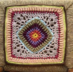 """Day 12: 12"""" Block of the Day - Ribs-n-Lace by Joyce Lewis Free Pattern: http://www.ravelry.com/patterns/library/ribs-n-lace-afghan-block June 2013 #TheCrochetLounge #12""""Square Pick #crochet"""