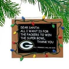 Green Bay Packers Chalkboard Sign Ornament, $7.95