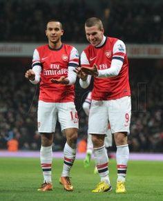 Theo celebrates his goal! #Arsenal
