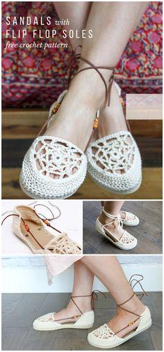 9703c45877627c Crochet Flip Flops – Free Patterns And Tutorials