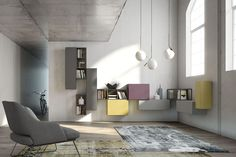 Soggiorno angolare, mobili vintage by Fimar