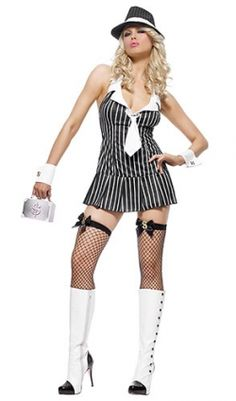 our sexy gangster costumes are traditional and flirty these sexy lady gangster costumes come in many sizes and styles and are great for women and girls - Halloween Mobster Costumes