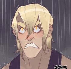 """harleygirl808: """"deceptipervsart: """"Quick doodle I can see him getting irritated by the rain """" It's because it puts his hair out, isn't it? """""""