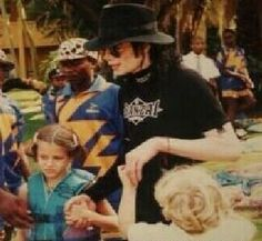 Riley and Ben with step-dad. Michael Jackson