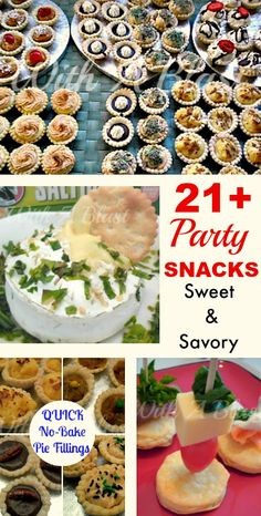 Sweet and Savory Party Snacks perfect for New Year's Eve