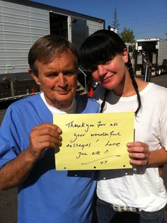 David McCallum and Pauley P. from her twitter account.