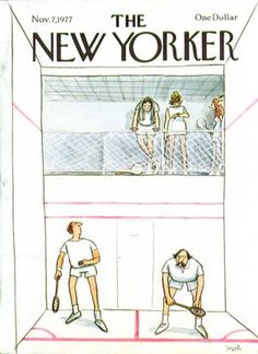 The New Yorker cover Saxon squash players 11/7 1977