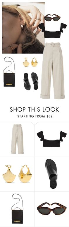 """""""Untitled #55"""" by stylebycecilia ❤ liked on Polyvore featuring GET LOST, Isa Arfen, Michael Lo Sordo, Acne Studios, All Tomorrow's Parties, The Row and Yves Saint Laurent"""