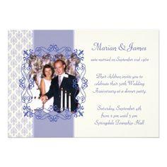 Photo 50th Wedding Anniversary Party Invitations