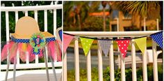 Real Party: A Colorful Nautical Pool First Birthday Party