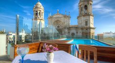 £96 Hotel La Catedral is set in Cádiz's charming Old Town, right next to Cádiz Cathedral.