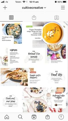 $20.00 · Taste the inspiration with our Food Social Feed Template! This vibrant set of 30 custom presets provides essential elements for professional chefs, restaurateurs, or food bloggers to enhance their brand. Create fresh, mouth-watering social content with ease using this colorful collection of fully-customizable Canva Templates. Instagram Collage Maker, Collage Template, Instagram Post Template, Essential Elements, Professional Chef, Step By Step Instructions, Chefs, Vibrant, Pumpkin
