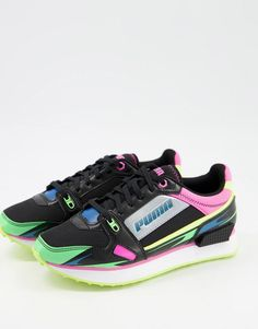 Black Wardrobe, Baskets, Colorful Shoes, Real Leather, Active Wear, Asos, Lace Up, Black Puma, Puma Sneakers