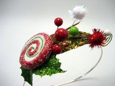 Whoville Inspired Mistletoe & Holly Headband with by jenjoy83