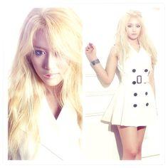Jiyeon from t-ara making blonde fabulous
