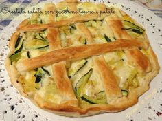 Tuna tart with zucchini and potato pie recipe Best Italian Recipes, Favorite Recipes, Fingers Food, Cooking Time, Cooking Recipes, Brunch, Food Waste, Food Humor, Frittata