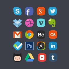20 Free Social Media Icon Sets to Use on Your Website #icons
