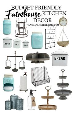 This budget friendly farmhouse kitchen decor will add the perfect touch of farmhouse to your kitchen, all under $100!
