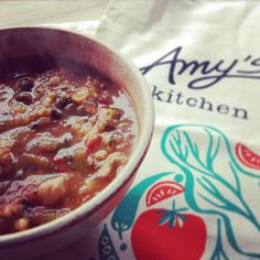 Hearty rustic italian vegetable soup for lunch and it was amazing  #organic #glutenfree #amyskitchenlunch