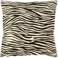 Skinny Zebra Pillow - Surya | domino.com