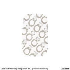 Diamond Wedding Ring Bride Bridal Bling Nail Decal