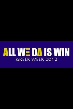 Greek Week!