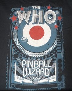 I wore a Pinball Wizard shirt for the first day of third grade. Not this one though. Mine was orange with cartoon pinball wizard graphics. True story.