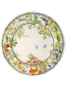 Villa Medicis, Gien Faience dinner plates
